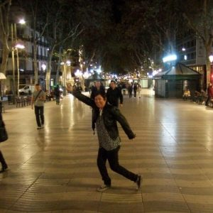 Solo female traveler in Barcelona