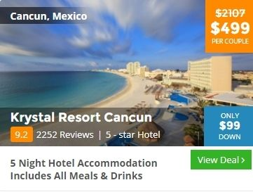 Solo travel deal for Cancun