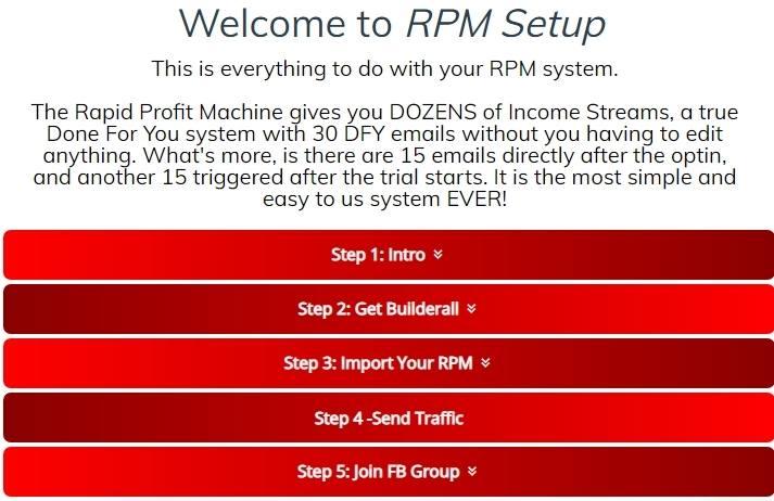 Rapid profit machine set up instructions