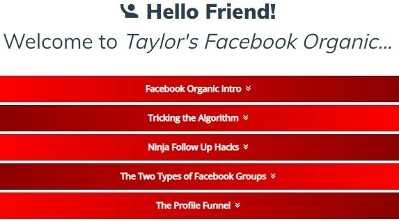 free facebook organic affiliate marketing training